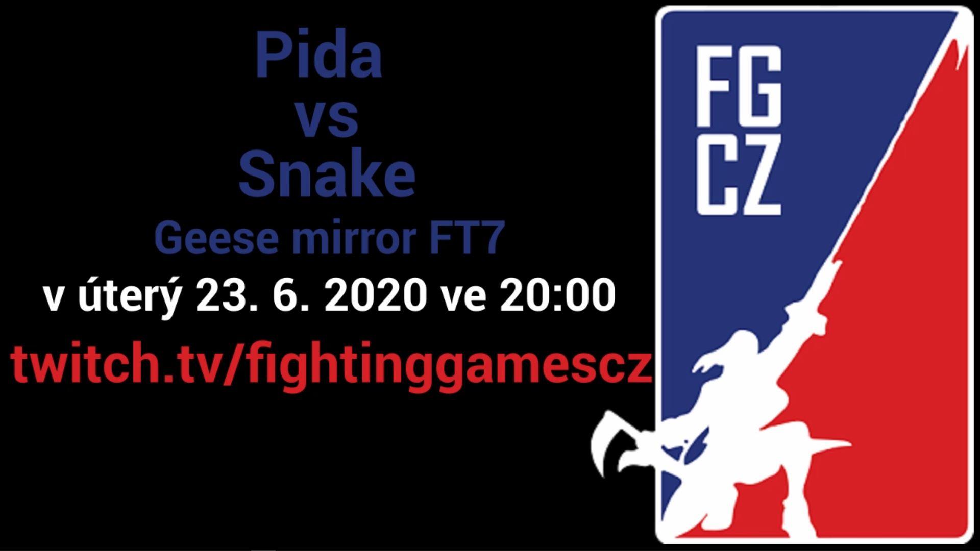 Poslední FGCZ Challenge bude Píďa vs Snake