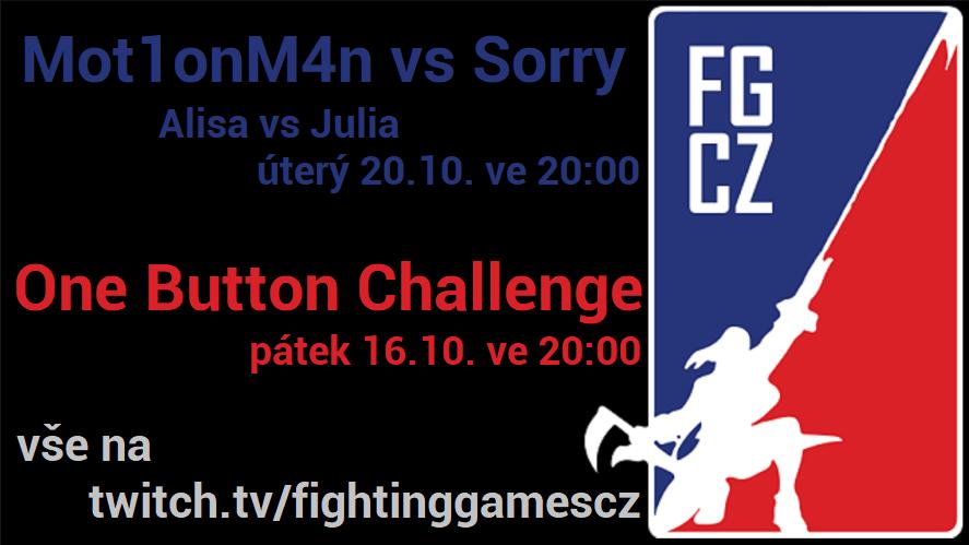 Říjnová FGCZ Challenge a One Button Challenge
