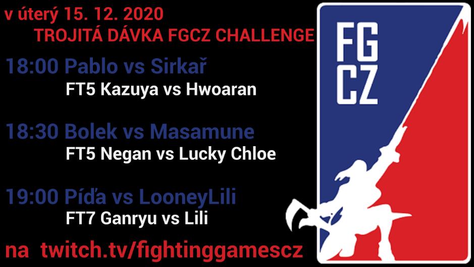 Prosincová FGCZ Challenge nabídne trojitou dávku zápasů